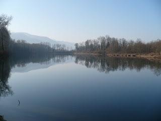 L'étang Manon, à proximité de la carrière de Lafleur. Crédit photo : Blog La pêche passionnément.