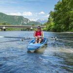 Pratiquer l'aviron sur l'Isère. © Didier Clamens