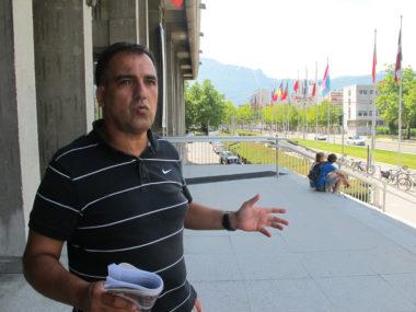 Cherif Boutafa, militant associatif, délégué syndical se présente pour les municipales 2020 à Grenoble. © Séverine Cattiaux - Place Gre'net