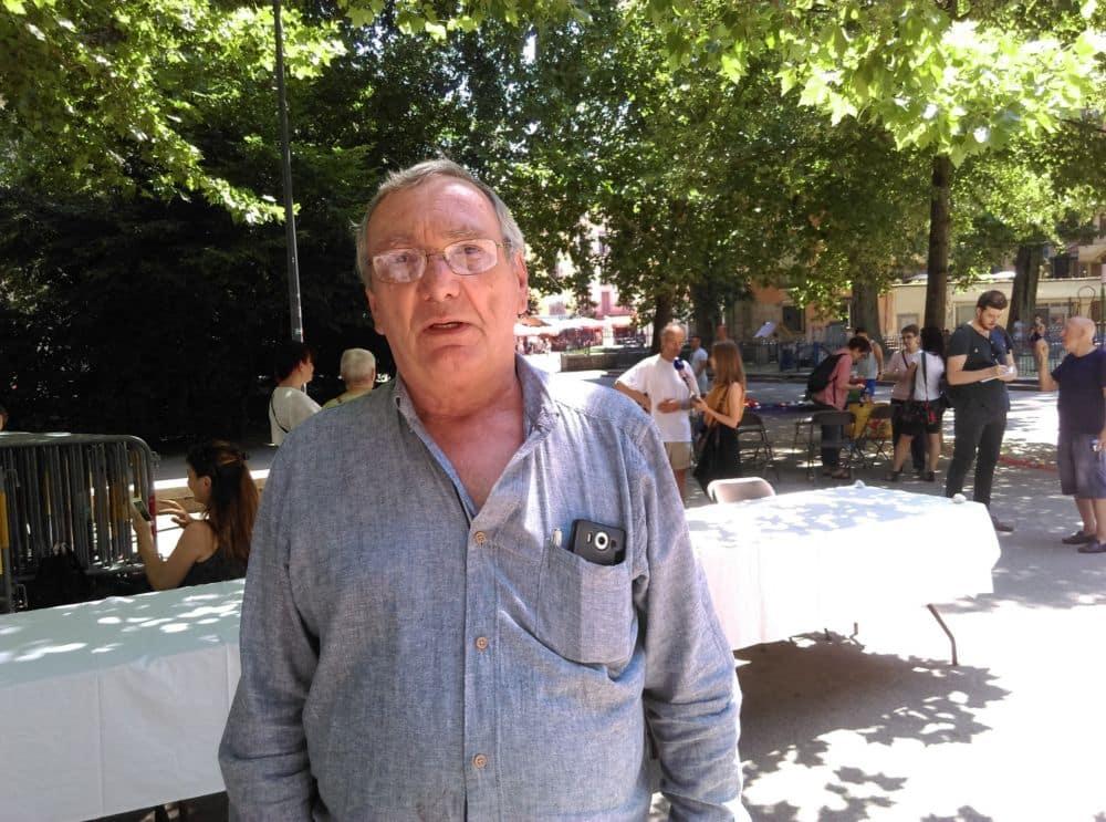Christian, membre du collectif grenoblois Les morts de rue © Florent Mathieu - Place Gre'net