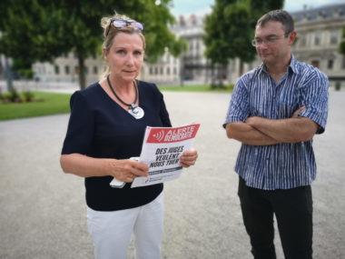 Muriel Burgaz, déléguée départementale adjointe du Rassemblement national. © Joël Kermabon - Place Gre'net