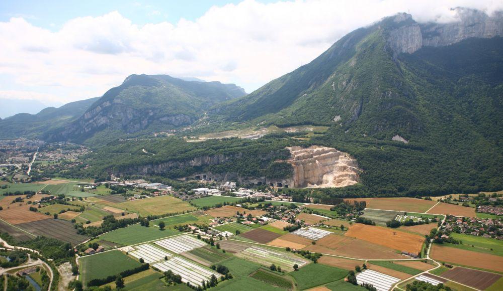 Le département de l'Isère perd des terres agricoles tous les ans. © Grenoble-Alpes Métropole