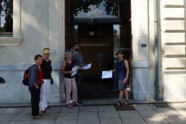 Le Collectif contre les démolitions imposées de la Villeneuve devant le Tribunal administratif