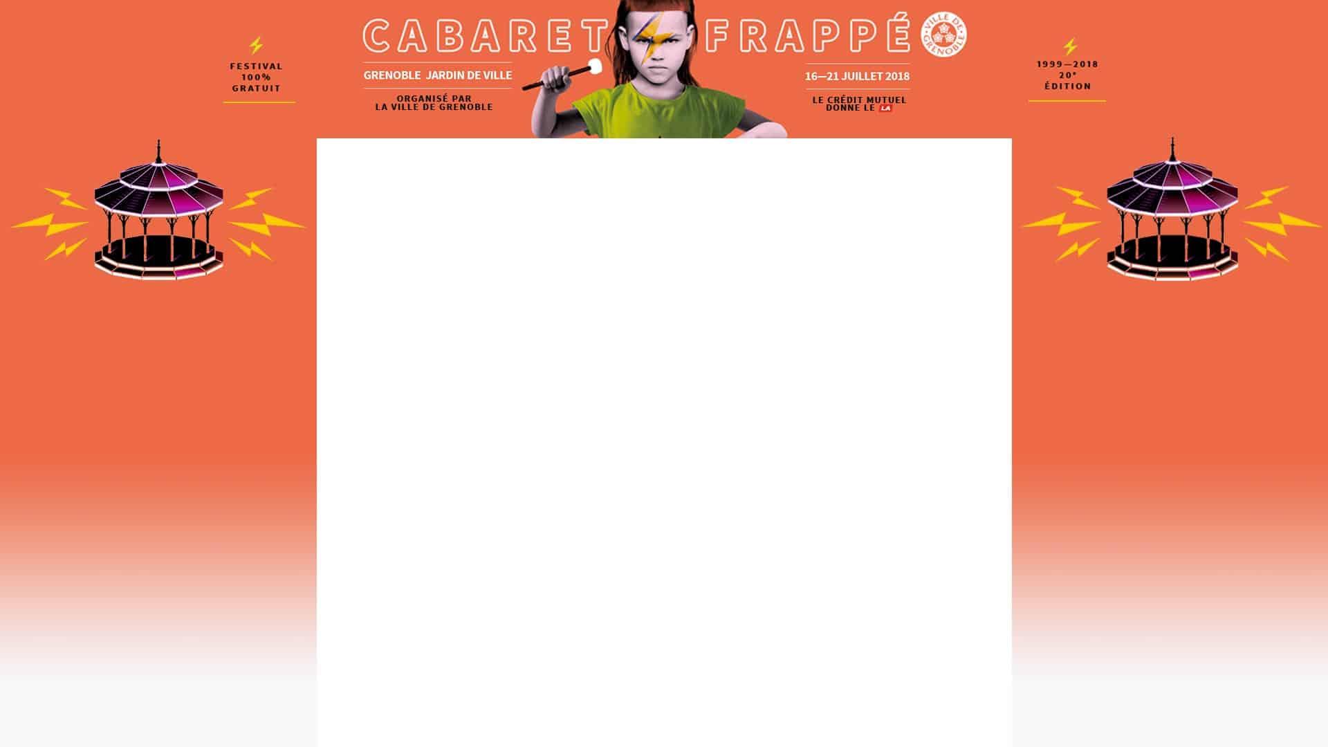 Festival Cabaret frappé du 16 au 21 juillet 2018 au Jardin de Ville de Grenoble