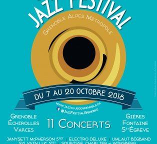Affiche de la quatorzième édition du Grenoble-Alpes Métropole Jazz Festival, 2018.