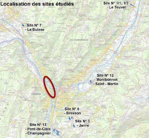 La carte des sites de compensation étudiés, telle que figurant dans l'avis de l'Autorité environnementale.