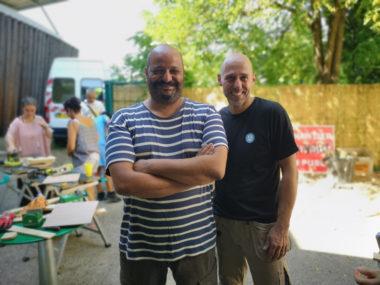 Salim Messaoudi et Jean-Louis Cipri. © Joël Kermabon - Place Gre'net