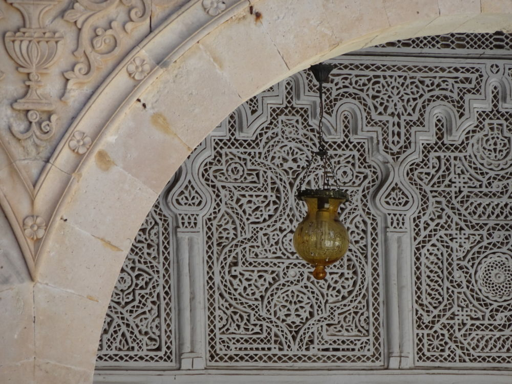 Kairouan, détail dans la Grande mosquée © André Weill