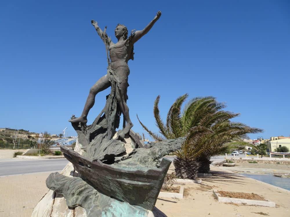 Île de Lampedus a© André Weill