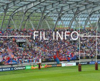 Le stade des Alpes, antre du FC Grenoble lors du match de barrage d'accession contre Oyonnax mai 2018. © Laurent Genin