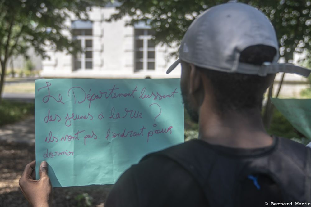 Manifestation de jeunes majeurs étrangers isolés © Bernard Meric