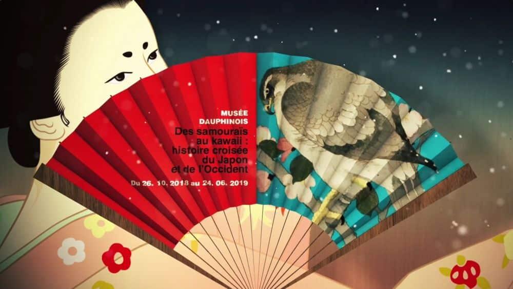 Visuel de l'exposition Des samouraïs au kawaii : histoire croisée du Japon et de l'Occident, au Musée Dauphinois. © Département de l'Isère