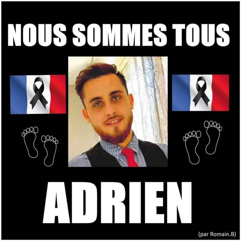 « Nous sommes tous Adrien », un montage circulant sur les réseaux sociaux. DR