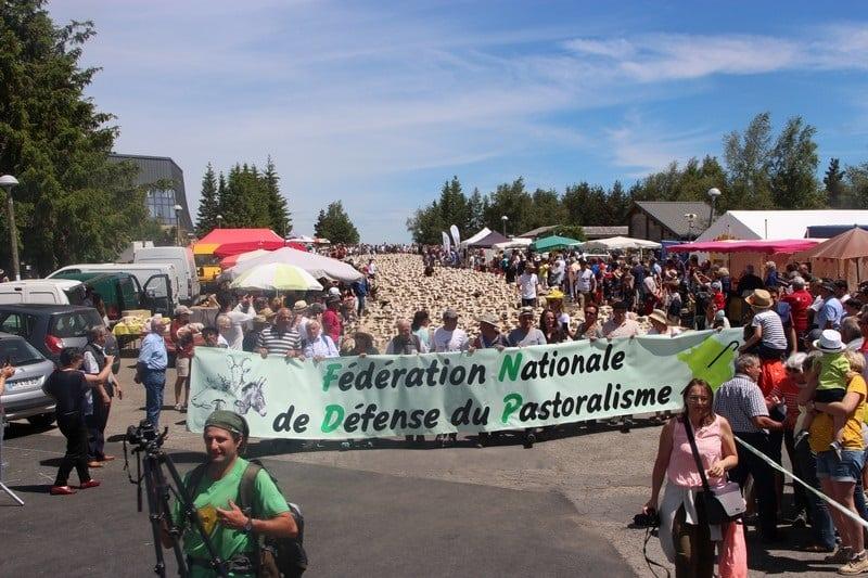Manifestation de la Fédération nationale de défense du pastoralisme. © FNDP