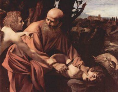L'abattage rituel de mouton lors de l'Aïd al Adha permet aux musulmans de commémorer du sacrifice d'Abraham (peinture du Caravage)