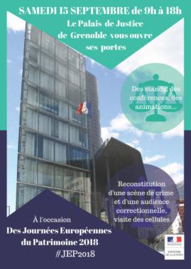 Affiche de l'événement. © Palais de justice de Grenoble