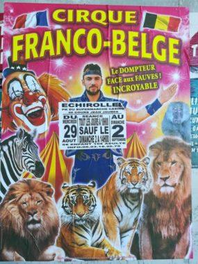 Affiche annonçant le cirque Franco-Belge à Échirolles. DR
