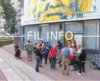 FIL INFO Militants contre la démolition du 10 galerie de l'Arlequin devant la Salle 150 © Séverine Cattiaux - Place Gre'net