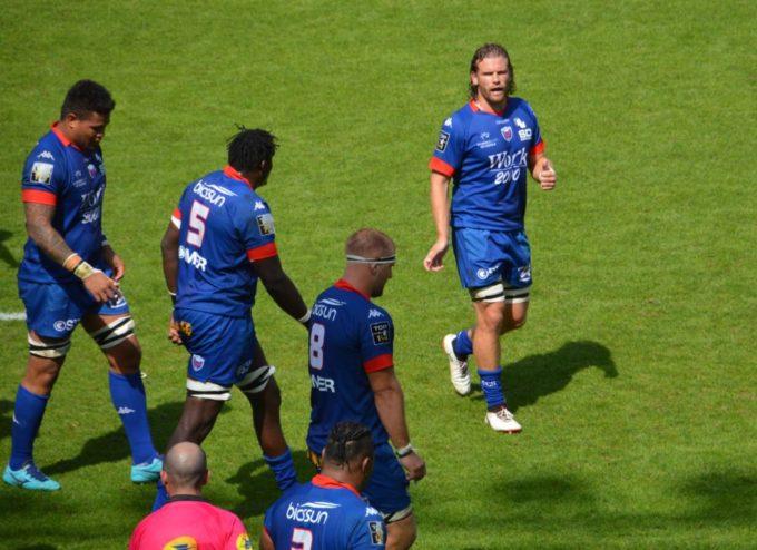 Fabien Alexandre, troisième ligne du FC Grenoble rugby. © Laurent Genin