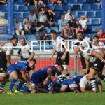 Le FC Grenoble rugby ici lors d'un match de préparation face aux Italiens de Parme en août 2018. © Laurent Genin