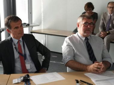 De gauche à droite : Jacques Dallest, procureur général de Grenoble et ean-François Beynel, le président de la cour d'appel de Grenoble. © Joël Kermabon - Place Gre'net