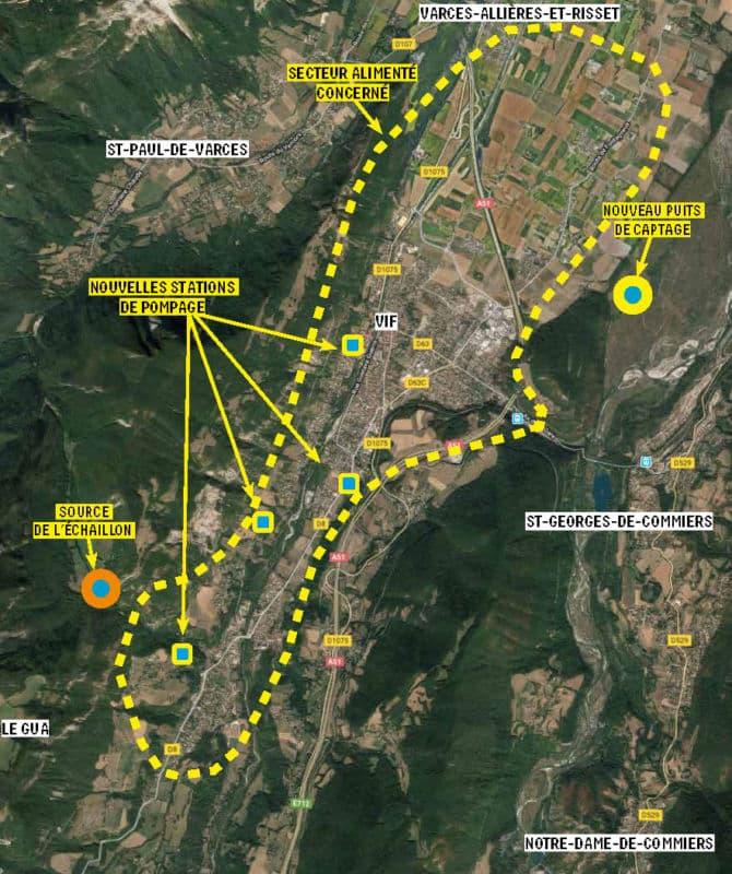 Le principe du nouveau forage et de la distribution de l'eau. © Grenoble-Alpes Métropole