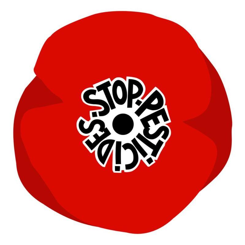 L'Appel des 100, titré « Nous voulons des coquelicots », est relayé et soutenu par nombre d'associations écologistes, dont la LPO Isère et la Frapna Isère.Visuel « Stop pesticides » en forme de coquelicot. DR