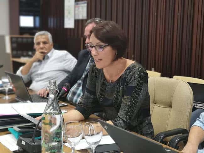 Conseil municipal du 24 septembre 2018 consacré notamment au rapport de la chambre régionale des comptes sur la ville de Grenoble. Ici, Maud Tavel © Joël Kermabon