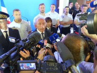 Gérard Collomb, ex-ministre de l'Intérieur lors de sa visite à Grenoble. © Manuel Pavard - Place Gre'net