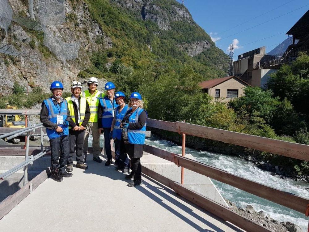 Visite du comité sénatorial de Guillaume Gontard sur le site du barrage du Livet © Guillaume Gontard