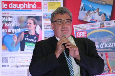 Christophe Tostain, PDG du Dauphiné Libéré. © Thierry Guillot - Dauphiné Libéré