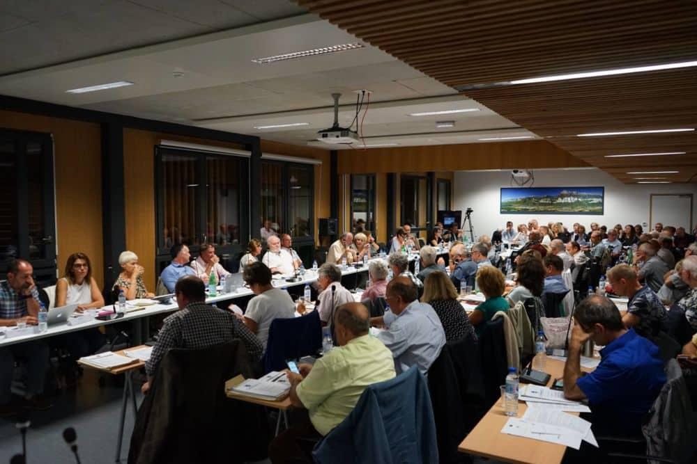 Conseil communautaire du Grésivaudan le 25 septembre 2018, soir de l'adoption du Projet de territoire © Le Grésivaudan