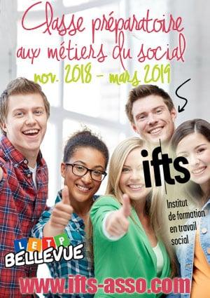 Classe préparatoire aux métiers du social nov. 2018 - mars 2019 IFTS