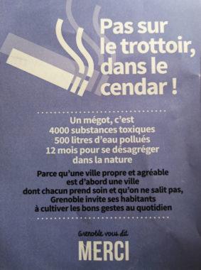 Le flyer de l'expérimentation. © Ville de Grenoble