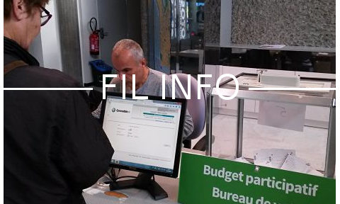 FIL INFO Bureau de vote à l'hôtel de Ville de Grenoble pour le budget participatif 2018 © Séverine Cattiaux - Place Gre'net