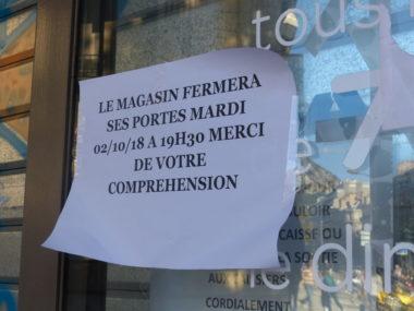 Les salariés du Carrefour City Jaurès sont en arrêt de travail suite à l'annonce de la mise en location-gérance de leur magasin, fermé faute de personnel. © Place Gre'net