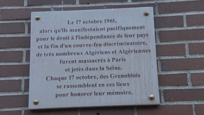 La plaque commémorative sur la place Edmond Arnaud. © Joël Kermabon - Place Gre'net