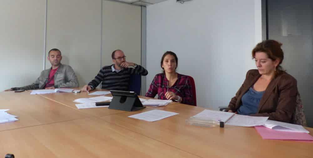 Le groupe RCSE du Département. De gauche à droite : Olivier Bertrand, Benjamin Trocmé, Nadia Kirat et Véronique Vermorel © Florent Mathieu - Place Gre'net