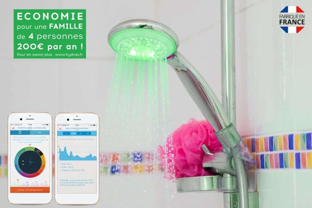 Les promesses d'économie du pommeau de douche connecté © Hydrao