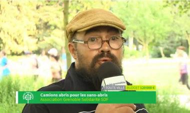 Nicolas porteur du projet Camion abirs pour les sans abris budget participatif 2018 DR
