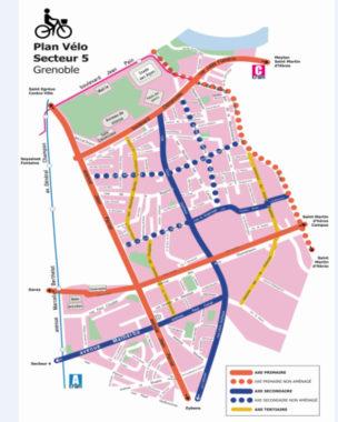 Plan vélo secteur 5