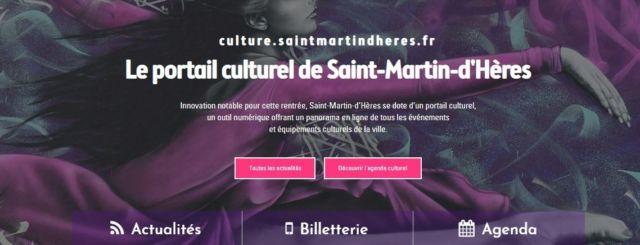Le portail numérique de Saint-Martin-d'Hères a pour objectif de promouvoir l'art et la culture, en répertoriant tous les événements culturels de la ville.