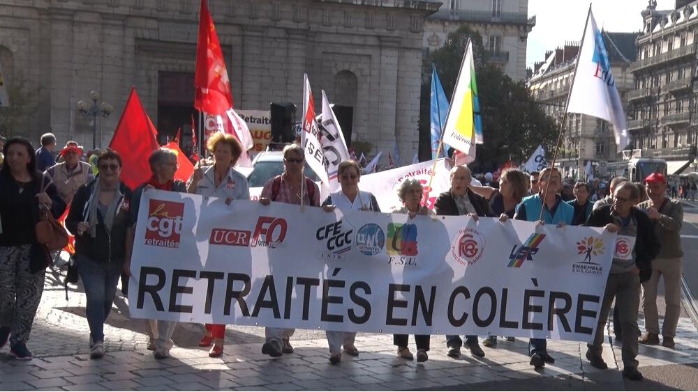 Manifestation des retraités à Grenoble en juin 2018 © Joël Kermabon - Place Gre'net