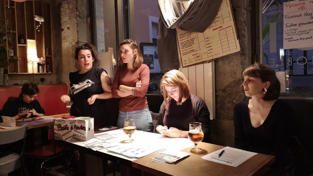 De gauche à froite : Pauline, Chloé, Coline et Margot. © Joël Kermabon - Place Gre'net