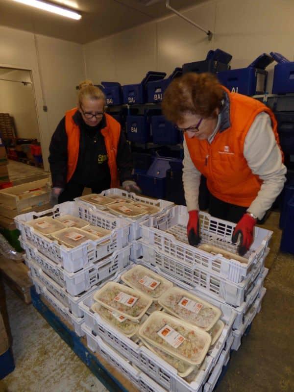 Les plats en barquettes sont distribués aux associations partenaires de la Banque alimentaire de l'Isère © Banque alimentaire de l'Isère