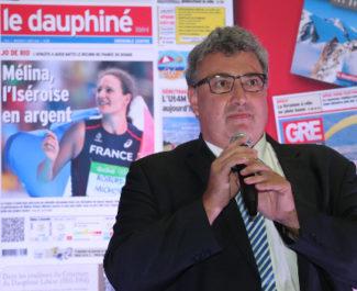 Christophe Tostain, PDG du Dauphiné Libéré. © Thierry Guillot -Dauphiné Libéré