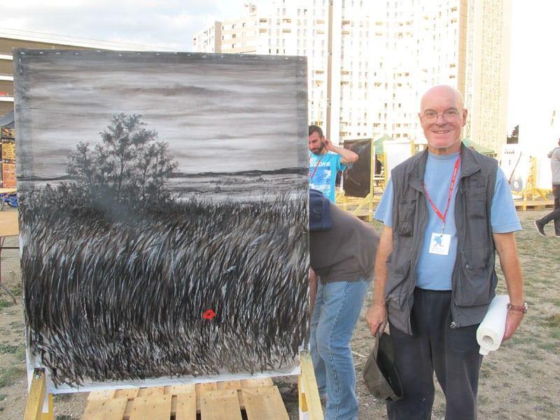 Urban expo, oeuvre collective pour la semaine de la non violence à la Villeneuve © Séverine Cattiaux - Place Gre'net