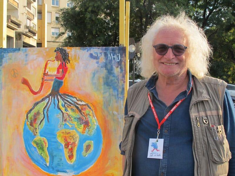 Urban expo, Alain Manac'h, oeuvre collective pour la semaine de la non violence à la Villeneuve © Séverine Cattiaux - Place Gre'net