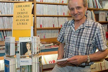 Yves Baruffaldi de la librairie grenobloise La Dérive qui fête ses 40 ans en 2018. © Alain Fischer - Gremag Tous droits réservés