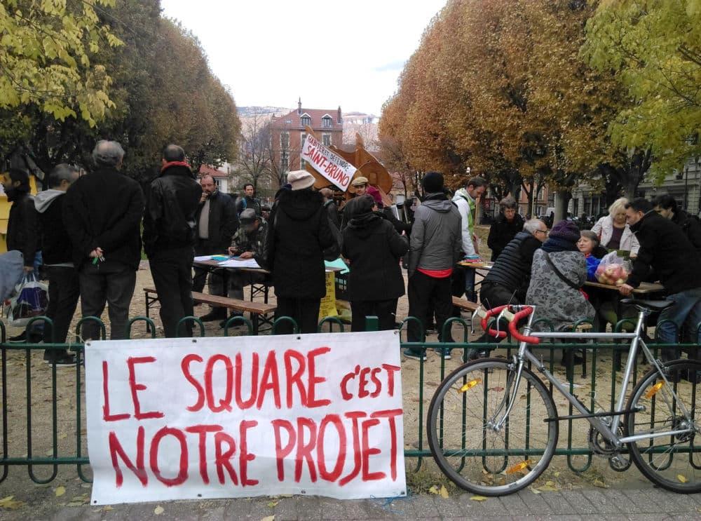 La journée d'échange et d'information a attiré les habitants dès le matin du samedi 10 novembre © Florent Mathieu - Place Gre'net